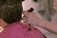 Man having haircut Royalty Free Stock Photography