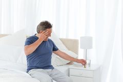 Man having a headache Stock Photos