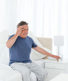 Man having a headache Royalty Free Stock Images