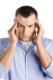 Man having headache Royalty Free Stock Images