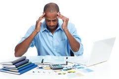 Man having headache. Royalty Free Stock Photo