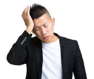 Man having headache Stock Photo