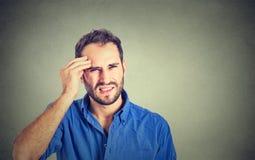 Man having headache Stock Photos
