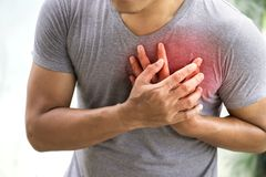 man having heart attack royalty free stock image