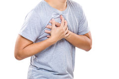 Man having heart attack Stock Images