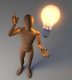 Man having an idea Stock Image