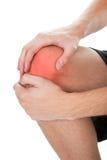 Man having knee injury Royalty Free Stock Photos