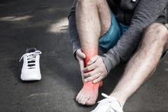 Man having leg injury Stock Photography