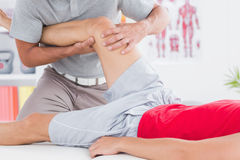 Man having leg massage Royalty Free Stock Photo