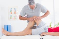 Man having leg massage Royalty Free Stock Image