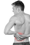 Man having lower back pain Royalty Free Stock Photos