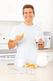 Man having lunch Royalty Free Stock Photo