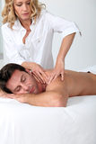 Man having a massage Stock Photography