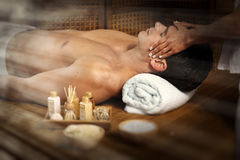 Man having massage. Stock Images