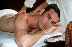 Man Having Massage Royalty Free Stock Images