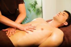 Man having massage Royalty Free Stock Photos