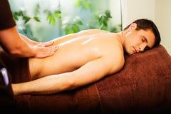 Man having massage Stock Photo