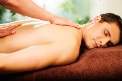 Man having massage Stock Images