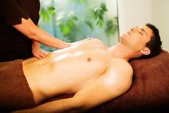 Man having massage Royalty Free Stock Images