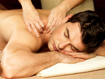 Free Man Having Massage In The Spa Salon Stock Images - 29257844