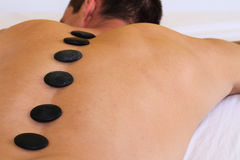 Man having massage. Relaxation, body care treatment, spa, wellness concept Royalty Free Stock Images
