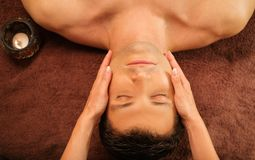 Man having massage in spa Royalty Free Stock Photo
