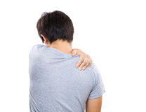 Man having neck pain Royalty Free Stock Image