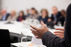 Man having presentation at seminar Stock Photo