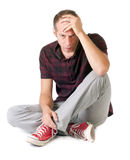 Man having problems royalty free stock photography