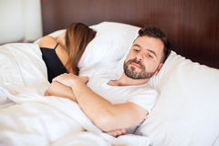 Man having problems with his girlfriend Stock Photo