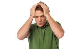 Man having severe headache Stock Photography