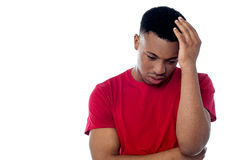 Man having severe headache Stock Images