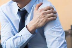 Man having shoulder pain problem. Stock Photos