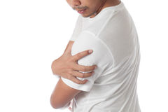 Man having shoulder pain Stock Photography