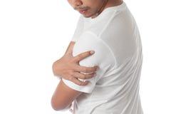 Man having shoulder pain Stock Photography