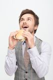 Man having a snack Royalty Free Stock Images