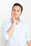 Man having toothache Stock Photos