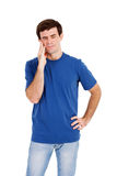 Man having toothache Stock Photo