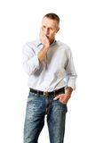 Man having toothache Royalty Free Stock Image