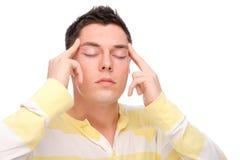 Man with head ache Stock Photos
