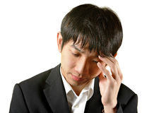 Man with head ache Stock Photography