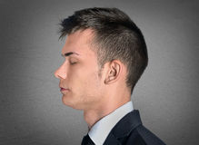Man head closeup Royalty Free Stock Photography