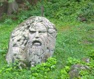Man head made of stone. South Bohemia, Czech Republic Stock Photos
