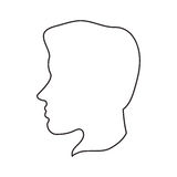 man head profile design Stock Photography