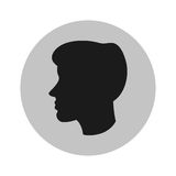 man head profile design Royalty Free Stock Photos