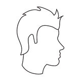 man head profile design Stock Photo