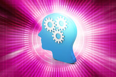 Man head showing gears cogs Royalty Free Stock Photography