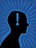 Man head silhouette Stock Photos