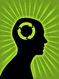 Man head silhouette Royalty Free Stock Photo