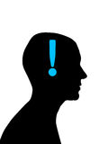 Man head silhouette Stock Photography